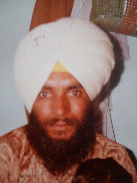 Photo of Balwinder Singh, victim of extrajudicial execution on September 13, 1992, in Gaggar Bhana, Mehta, by Punjab Police