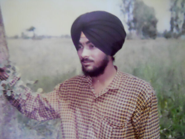 Photo of Dalbeer Singh, victim of extrajudicial execution on September 13, 1992, in Gaggar Bhana, by Punjab Police