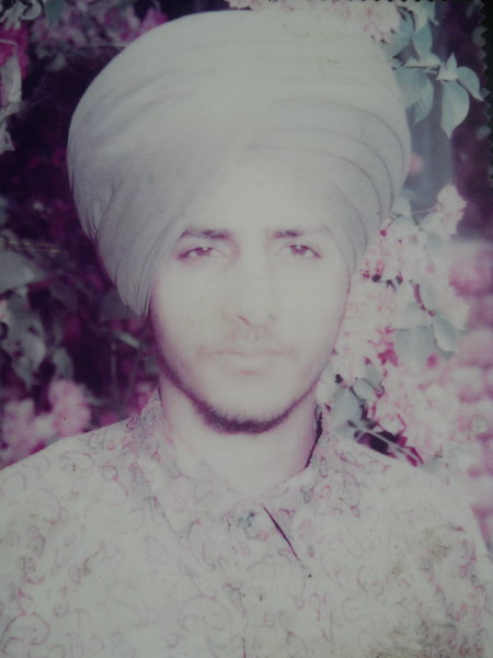 Photo of Harpal Singh, victim of extrajudicial execution on September 18, 1992, in Gaggar Bhana, by Punjab Police