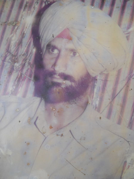 Photo of Balbeer Singh, victim of extrajudicial execution between September 16, 1993 and September 17,  1993Punjab Police