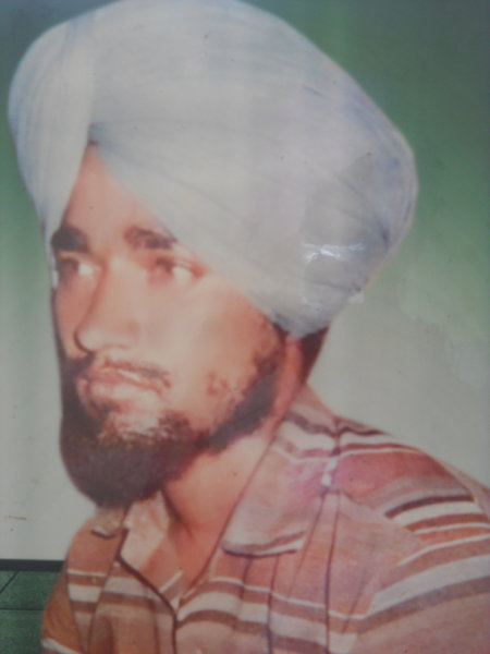 Photo of Tarsem Singh, victim of extrajudicial execution on October 28, 1987 by Central Reserve Police Force, in Ajnala, by Punjab Police