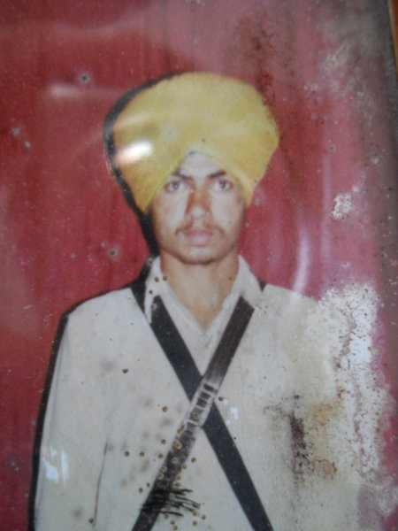 Photo of Sukhjit Singh, victim of extrajudicial execution on March 23, 1988, in Ajnala, by Punjab Police