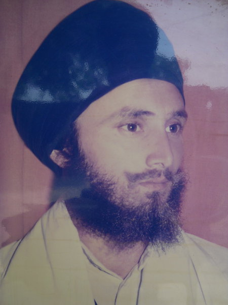 Photo of Harpal Singh, victim of extrajudicial execution on September 28, 1990, in Batala, by Punjab Police