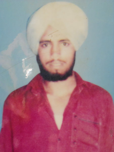 Photo of Harpinder Singh, victim of extrajudicial execution between January 1, 1989 and January 30,  1989Punjab Police