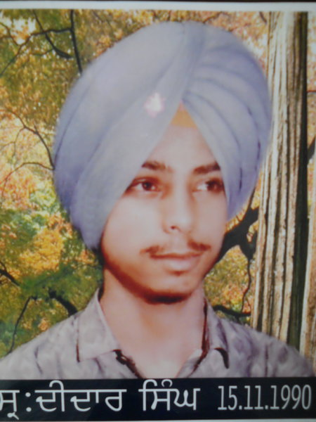 Photo of Didar Singh, victim of extrajudicial execution on November 15, 1990, in Khemkaran, Khalra, Valtoha, by Punjab Police