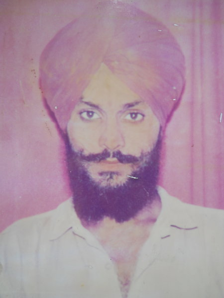 Photo of Sarwan Singh, victim of extrajudicial execution on July 9, 1992, in Patti, by Punjab Police