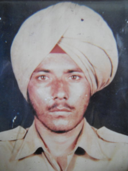 Photo of Rashpal Singh, victim of extrajudicial execution between July 1, 1991 and October 30,  1992, in Jhabal Kalan, by Punjab Police