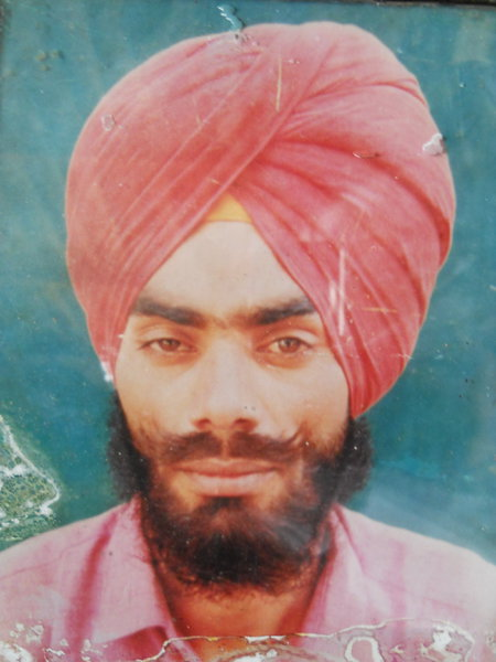 Photo of Sukhwinder Singh, victim of extrajudicial execution between January 18, 1991 and January 25,  1991, in Amritsar, Majitha, by Punjab Police