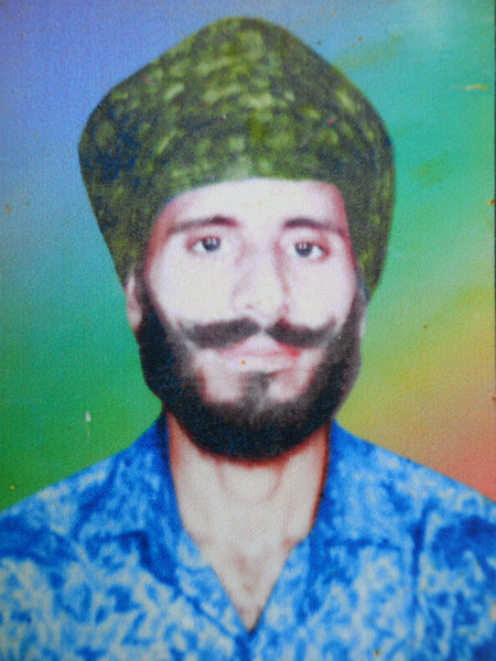 Photo of Kulbir Singh, victim of extrajudicial execution between February 8, 1993 and February 15,  1993, in Makhu,  by Punjab Police; Central Reserve Police ForcePunjab Police