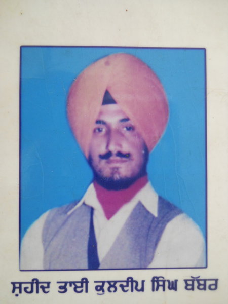 Photo of Kuldip Singh, victim of extrajudicial execution on October 18, 1986, in Dharamkot, by Punjab Police