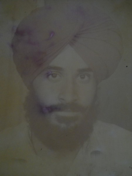 Photo of Sukhwinder Singh, victim of extrajudicial execution between July 29, 1990 and August 3,  1990, in Kathu Nangal, by Punjab Police