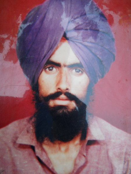 Photo of Daljit Singh, victim of extrajudicial execution on August 03, 1991, in Amritsar, by Punjab Police