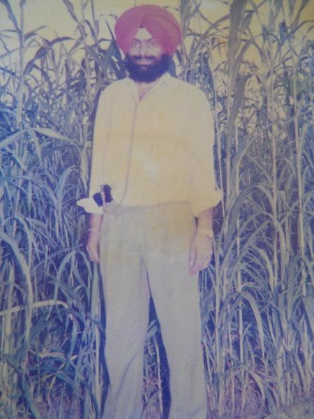 Photo of Punjab Singh, victim of extrajudicial execution on April 13, 1994, in Jhabal Kalan, by Punjab Police