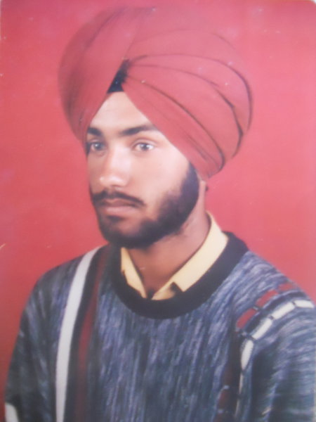 Photo of Manjinder Singh, victim of extrajudicial execution on May 4, 1992, in Jandiala, by Punjab Police