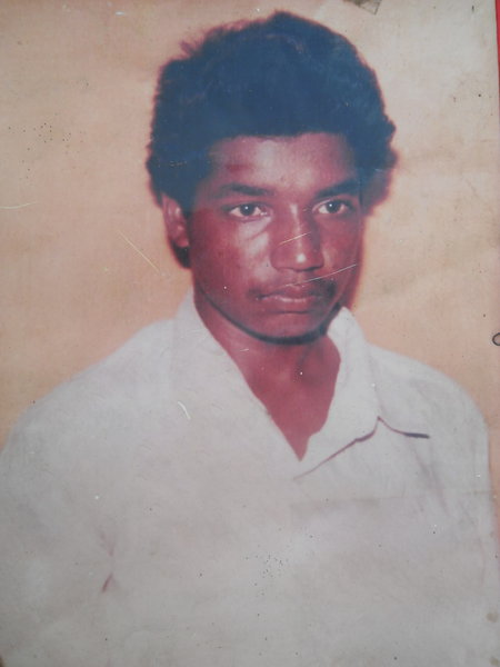 Photo of Satnam Singh, victim of extrajudicial execution between April 15, 1993 and April 30,  1993, in Tarn Taran, by Punjab Police