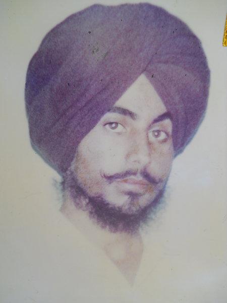 Photo of Hardeep Singh, victim of extrajudicial execution between April 21, 1993 and May 16,  1993, in Sarhali Kalan, by Punjab Police