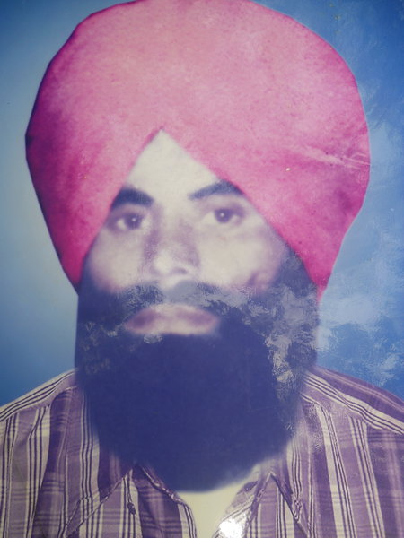 Photo of Chirmal Singh, victim of extrajudicial execution between December 1, 1986 and December 31,  1986, in Sarhali Kalan,  by Punjab Police; Central Reserve Police ForcePunjab Police