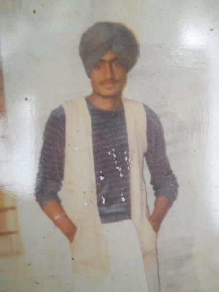 Photo of Jagtar Singh, victim of extrajudicial execution, date unknown, in Tarn Taran, by Punjab Police