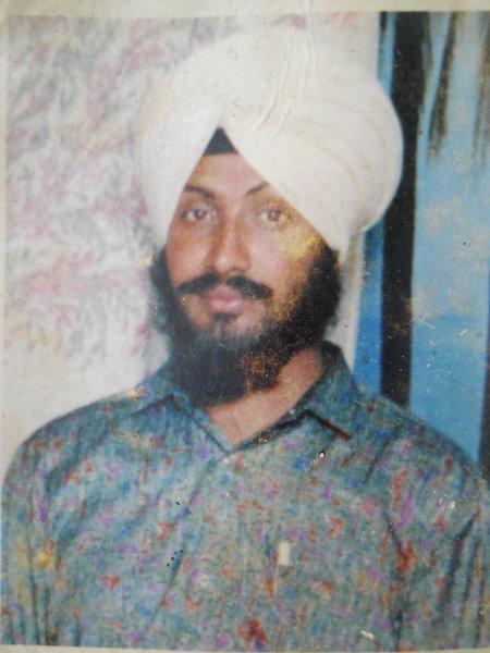 Photo of Manjit Singh, victim of extrajudicial execution on June 05, 1992, in Kairon,  by Punjab Police; Central Reserve Police Force, in Kairon, by Punjab Police