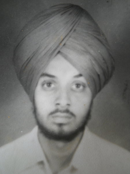 Photo of Lakhwinder Singh, victim of extrajudicial execution on August 11, 1987, in 73rd Battalion CRPF Camp,  by Punjab Police; Central Reserve Police Force, in Jandiala, by Punjab Police