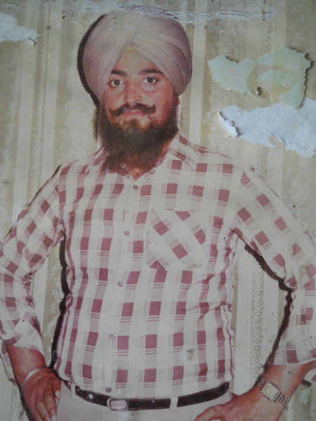 Photo of Baldev Singh, victim of extrajudicial execution on October 7, 1987, in Amritsar, Beas,  by Punjab Police; Central Reserve Police Force, in Beas, by Punjab Police
