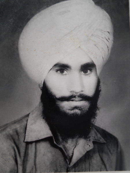 Photo of Manjit Singh, victim of extrajudicial execution between November 15, 1994 and November 30,  1994, in Samrala, by Punjab Police