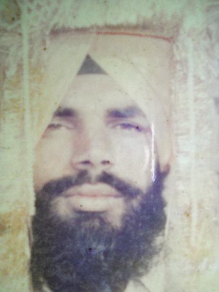 Photo of Sahib Singh, victim of extrajudicial execution on November 17, 1992, in Khalchian, by Punjab Police