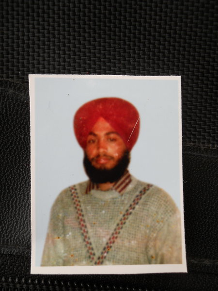 Photo of Gurdev Singh, victim of extrajudicial execution on November 17, 1992, in Beas, Khalchian, by Punjab Police