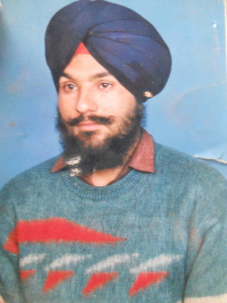 Photo of Ravinderbeer Singh, victim of extrajudicial execution on May 4, 1991, in Mehta, by Punjab Police; Central Reserve Police Force