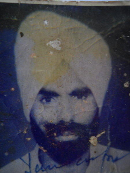 Photo of Sukhchain Singh, victim of extrajudicial execution between June 14, 1990 and June 25,  1990, in Phagwara,  by Punjab Police; Central Reserve Police Force, in Phagwara, by Punjab Police