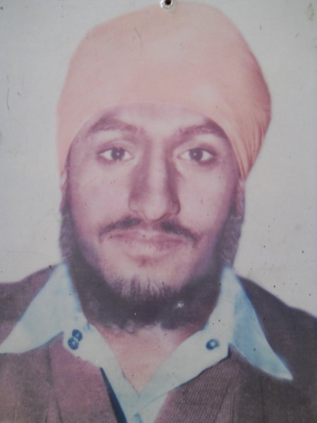 Photo of Lakhwinder Singh, victim of extrajudicial execution between December 20, 1986 and December 21,  1986, in Jandiala, by Punjab Police