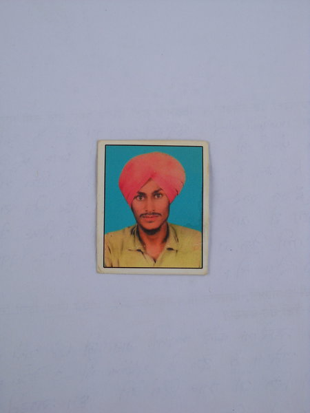 Photo of Harjeet Singh, victim of extrajudicial execution between July 1, 1992 and July 10,  1992, in Verowal, by Punjab Police