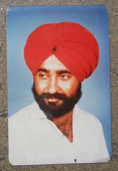 Photo of Tajinder Singh, victim of extrajudicial execution on July 16, 1990, in Dhilwan, by Punjab Police