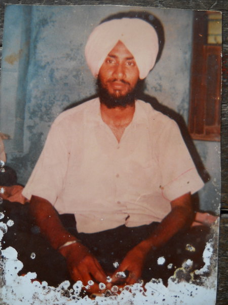 Photo of Balbir Singh, victim of extrajudicial execution, date unknown, in Verowal,  by Punjab Police; Central Reserve Police ForceCentral Reserve Police Force