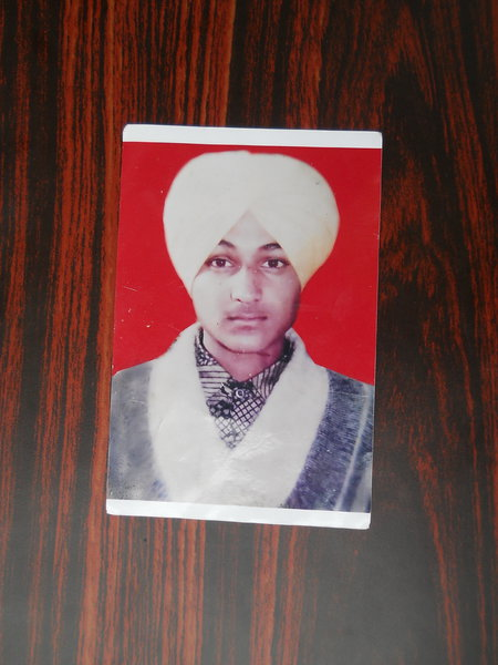 Photo of Sukhdev Singh, victim of extrajudicial execution on March 18, 1993 by Punjab Police; Central Reserve Police ForcePunjab Police; Central Reserve Police Force