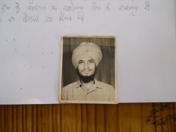 Photo of Balbir Singh, victim of extrajudicial execution on July 20, 1987, in Batala,  by Punjab Police; Central Reserve Police Force, in Batala, by Punjab Police; Central Reserve Police Force