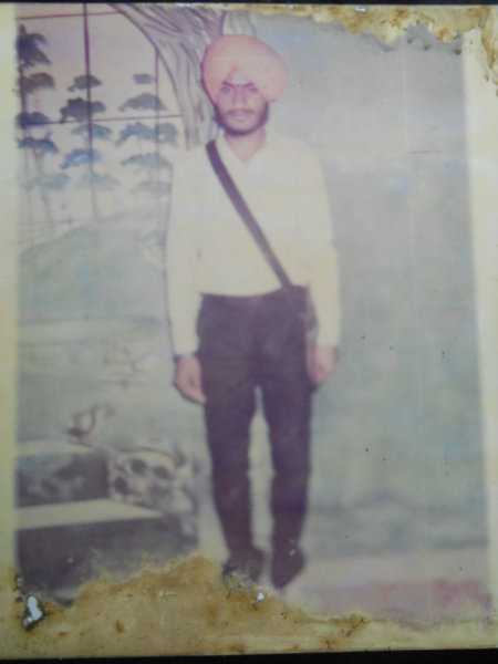 Photo of Major Singh, victim of extrajudicial execution on October 6, 1987, in Lopoke,  by Punjab Police; Central Reserve Police Force, in Ajnala, by Punjab Police; Central Reserve Police Force