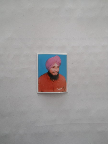 Photo of Santokh Singh, victim of extrajudicial execution between August 7, 1991 and August 10,  1991, in Harike, by Punjab Police
