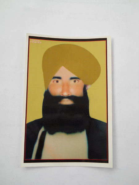Photo of Pargat Singh, victim of extrajudicial execution on July 24, 1991, in Bhikhiwind, by Punjab Police