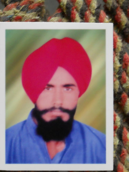 Photo of Balraj Singh, victim of extrajudicial execution on August 27, 1989, in Majitha,  by Punjab Police; Central Reserve Police Force, in Majitha, by Punjab Police