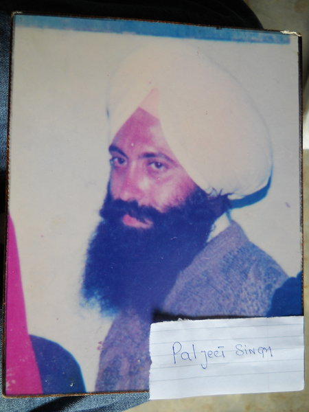 Photo of Paljeet Singh, victim of extrajudicial execution between July 29, 1991 and August 31,  1991, in Amritsar,  by Unknown type of security forcesPunjab Police