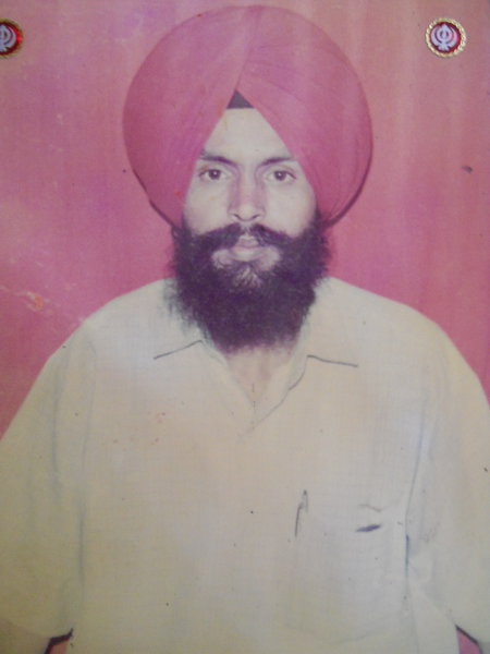 Photo of Sawinder Singh, victim of extrajudicial execution on July 18, 1992, in Kathu Nangal, by Punjab Police