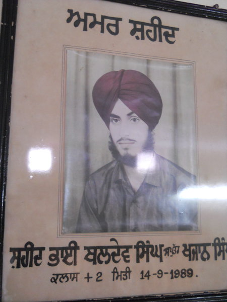 Photo of Baldev Singh, victim of extrajudicial execution on September 14, 1989, in Thariwal,  by Central Reserve Police Force, in Kathu Nangal, by Punjab Police