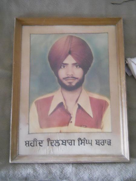 Photo of Dilbag Singh, victim of extrajudicial execution on October 25, 1991, in Jalandhar, by Punjab Police