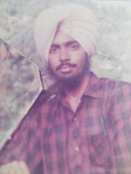 Photo of Jaswinder Singh, victim of extrajudicial execution between March 19, 1990 and May 30,  1990, in Phagwara,  by Punjab Police; Black catPunjab Police