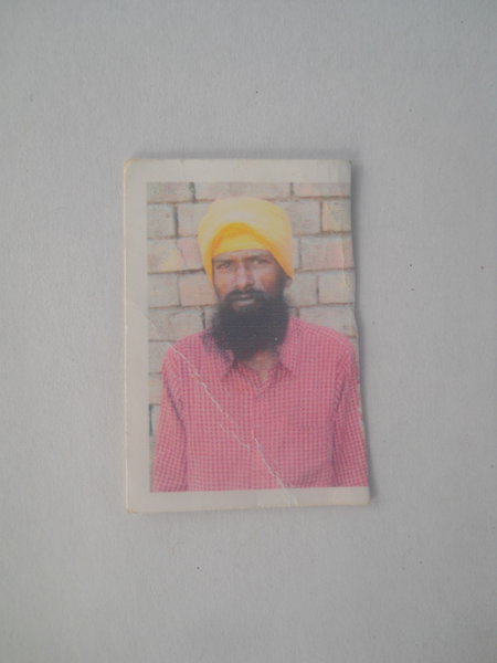 Photo of Jarnail Singh, victim of extrajudicial execution on July 01, 1987, in Harike, by Punjab Police