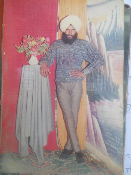 Photo of Paramjit Singh, victim of extrajudicial execution on May 28, 1993, in Bhikhiwind, by Punjab Police