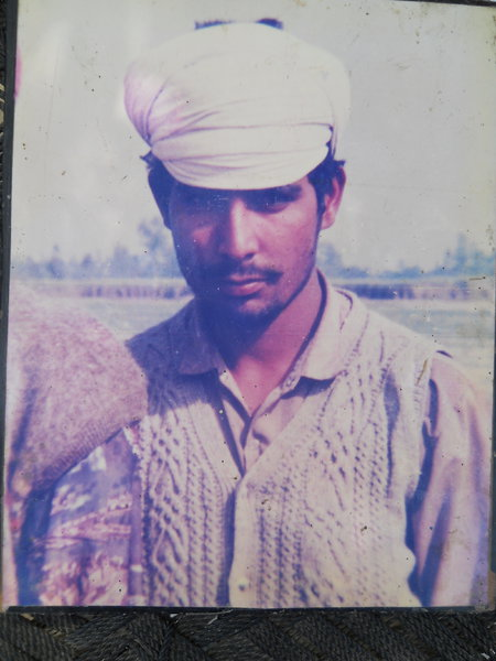 Photo of Hari Singh, victim of extrajudicial execution on July 14, 1992, in Bhikhiwind, by Punjab Police