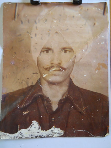 Photo of Balkar Singh, victim of extrajudicial execution between January 1, 1993 and December 31,  1993 by Central Reserve Police ForceUnknown type of security forces
