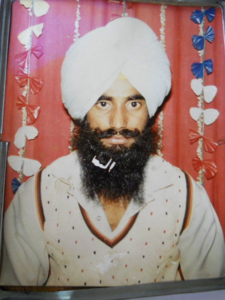 Photo of Mukhtiar Singh, victim of extrajudicial execution between January 1, 1992 and December 31,  1992, in Bhikhiwind,  by Punjab Police; Central Reserve Police Force, in Bhikhiwind, by Punjab Police